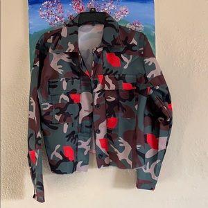 Crop Camo Jacket NWOT